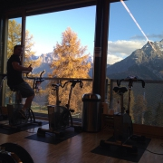 The best view ever out of a gym! #engiadina #hochalpinesinstitutftan #home