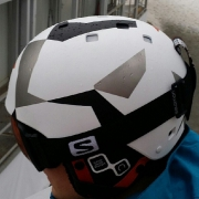 That's my 'camouflage' helmet for the Olympic PGS! #fightformydream