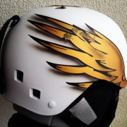 This is my new special designed helmet for tomorrows Olympic Parallel Slalom. #letsflyhigh