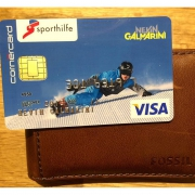 Coolest credit card ever?! Thanks @cornercard and @schweizersporthilfe ! #fossil