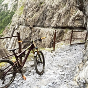 Val d'Uina - a 1km long path built into pure stone. One of the most fascinating places in the Engadin.