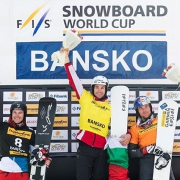 Very happy to share another podium picture with you. 2nd place at the @fissnowboard Worlcup @bansko ! 📸 @mihamatavz
