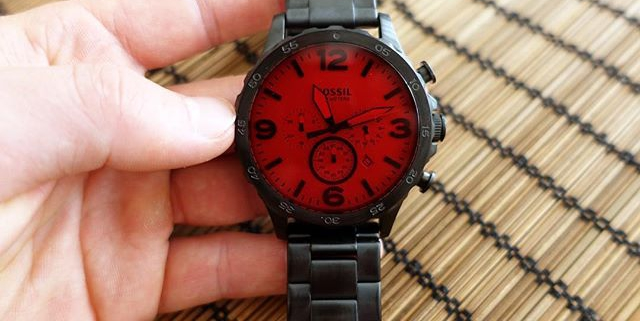 Coolest @fossil watch I own. Too bad it's availability is very limited in some countries. #unique #fossilstyle