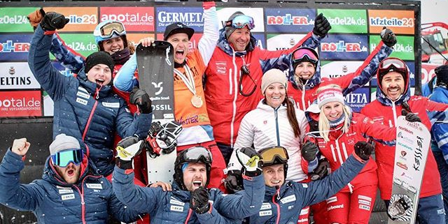 Behind every success is a great team. Thanks for the support Swiss Snowboard Alpine Team and the team sponsors @swisscom | @helvetia.schweiz | @bkwag | @raiffeisenschweiz | @audischweiz | @2117ofsweden_official  And yeah - I am part of the National Team for at least one more year 😊